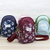 Women Girl Flower Pattern Mobile Phone Bag Satchel Purse Shoulder Bags Handbag