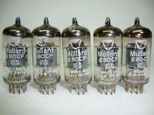 2 X E80CF MULLARD NOS TUBES. BLACKBURN CODES,. SAME CODE. CRYOTREATED