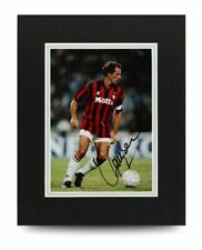 Franco Baresi Signed 10x8 Photo Display AC Milan Autograph Memorabilia + COA