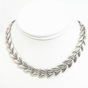 "NYJEWEL Vintage Danecraft 925 Sterling Silver 15mm Choker Necklace 15.5"" 33.3g"