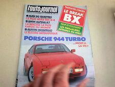 """REVUE  """" L' AUTO JOURNAL """" N° 3  ANNEE  1985  *"""