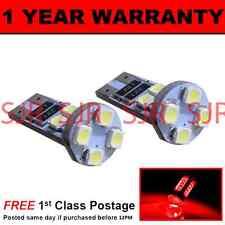 W5W T10 501 Canbus Nessun Errore ROSSO ALTO LIVELLO luce freno 8 LAMPADINE LED