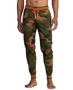 New Polo Ralph Lauren Men's Knit Camo Jogger Pants M Camo W/dusk Orange S0513