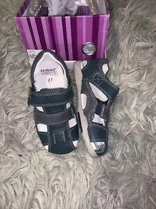 pediped Boys Joshua Navy Fishermen Sandals Size US 10-10.5 & 12.5-13(EU 27 & 30)