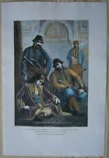 1875 Reclus print MUSLIM INHABITANTS OF EDIRNE (TURKEY) AND PRIZREN (KOSOVO)