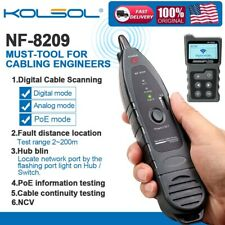 Kolsol Nf 8209 Network Cable Tester Tracker 4 In 1 Poe Tester With Ncv Amp Lamp