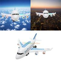 Electric Air Bus Model Flashing LED Light Kids Musical Airplane Toy Xmas Gifts