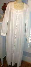 NWT S Small West Robe 100% Lawn Cotton White POCKETS NEW NightGown $78