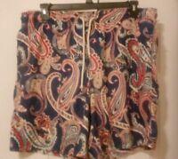 Nautica Swim trunks suit board shorts Coral Pattern size XLarge EUC