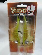 """Egret Vudu Rattling Shrimp Chartreuse 3.5"""" E-VSG35R-14-15 Bait"""