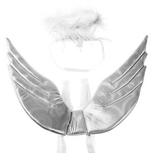 Puppy Dog Cat Pet Harness Angel Wings+Feather Headband Christmas Costume Cosplay