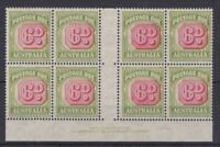 APD463) Australia 1946-56 Redrawn value plates 6d Carmine & deep green