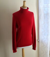 Neiman Marcus -Sz L 100% Cashmere Plush Luxurious Russian Red Turtleneck Sweater