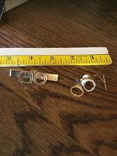 2 Hand Cuff Design , Tie Bar And Tie Tack