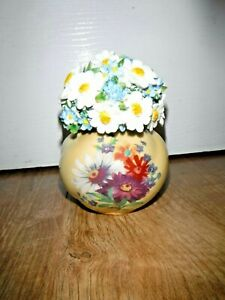 Atlas Floral Treasures Vase Flowers ~ Royal Worcester Style ~ Excellent