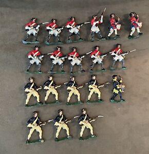19 Rev War Soldiers, SAE 54mm Metal