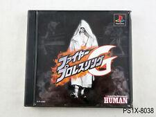 Fire Pro Wrestling G Playstation 1 Japanese Import Japan JP PS1 Human US Seller