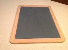 Vintage 1 Sided Chalkboard Made In Portugal Wood Frame Rounded Corners Child's