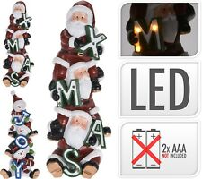Large 36CM LED Light up Christmas Decoration Santa or Snowman Xmas Figurine