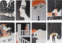 André BRASILIER  : MOIRA - 9 LITHOGRAPHIES originales #1972 #MOURLOT