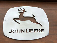 John Deere Wall Sign Metal Polished Man Cave Shed Plate