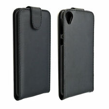 Protective Leather Flip Black Full Cover Case Pouch For HTC Desire 820