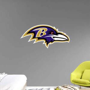 "28"" x 13"" team NFL Logo Baltimore Ravens Fathead Wall Graphics vinyl sticker"