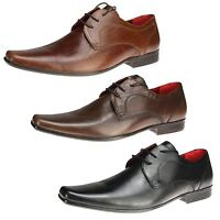 Mens Red tape Kingston Lace up leather formal wedding office Pointy Toe Shoes