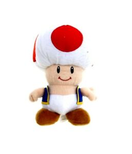 "OFFICIAL NEW SUPER MARIO BROS 12"" TOAD PLUSH SOFT TOY NINTENDO"