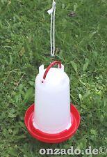 3 L Stülptränke für Geflügel mit Aufhängeseil Wasserspender Hühner Enten Gänse