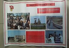 amazing posters of communist propaganda P.P.SH-6th congress of agricultural-1987