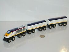 BRIO Eurostar Engine & Passenger Cars 33424 Trains World Thomas Wooden Railway