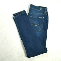 7 FOR ALL MANKIND Womens ANKLE GWENEVERE Mid Rise Skinny Jeans Size 28