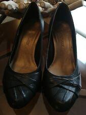 Clarks Softwear Leather Heels Size UK 5
