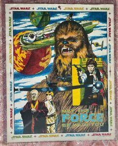 Star Wars 1978 Original Han Solo Chewbacca  Artwork Poster Hand Colored RARE