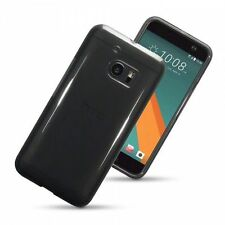 Smoke Black Hybrid Slim Fitted Rubber Gel Skin Case Cover for HTC 10