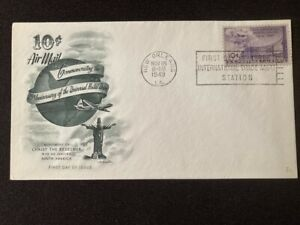 US Airmail FDC  C42 10 cent Universal Postal Union 1949