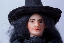 Dollhouse Miniatures ~ Hand Sculpted Resin Halloween Witch In Black Costume
