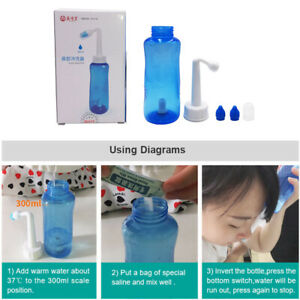 Neti Pot Nasal Rinse Nose Wash Clean Sinus Allergies Relief for Adult Kid Yoga
