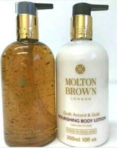 Molton Brown Mesmerising Oudh Accord & Gold Hand Wash & Body Lotion 300ml