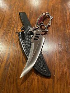 "Frost Cutlery Road Warrior Bowie 17"" Knife Multicolor Pakka Wood Handle"