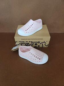 Native Shoes Girl's Jefferson  Sneaker Milk Pink/Shell White, US childs 13Med