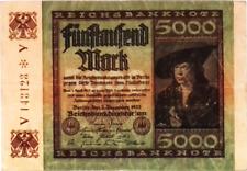 1922 Germany Weimar Republic 5000 Mark Banknote