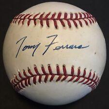 VARY SCARCE Tony Ferrara (Deceased) JSA Signed Baseball New York Yankees 1970-97
