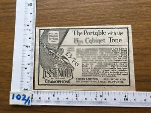 Lissenola portable with 15gn. cabinet tone -- press advert 1929 gramophone