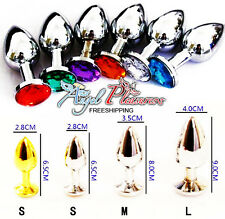 Random Colors Medium Anal Booty Beads Stainless Steel Crystal Jewelry Size M