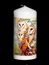 More details for cellini candles unique barn owl beautiful  unique candle gift any occasion