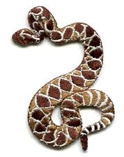 IRON ON PATCH RATTLE SNAKE  2 X 3 inch