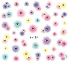 Nail Art Stickers Water Decals Transfers Pastel Flowers (M+184)