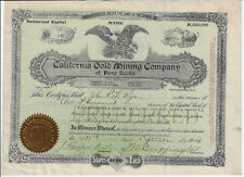 CANADA 1904 California Gold Mining Company of Nova Scotia Stock Certificate #96